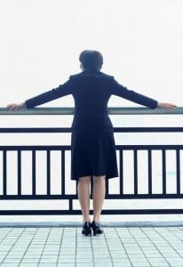 woman imagining