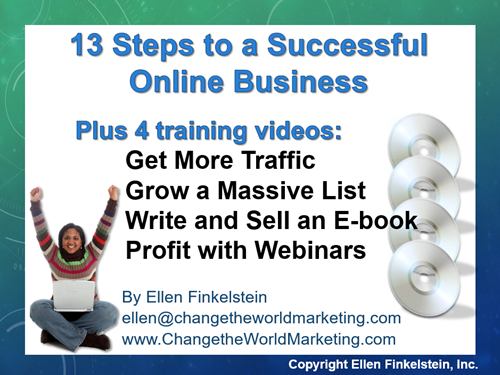13 steps to a successful online business